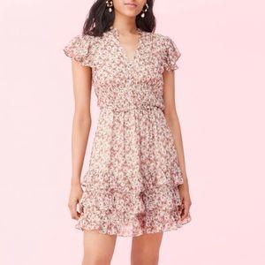 Rebecca Taylor Lucia Silk Chiffon Minidress